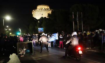 Θεσσαλονίκη: Επεισόδια σε διαδήλωση κατά του lockdown (vid)