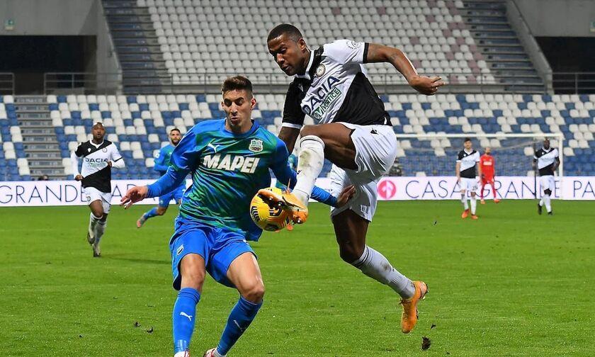 Serie A: Η Ουντινέζε έκανε τη ζημιά στη Σασουόλο (highlights)