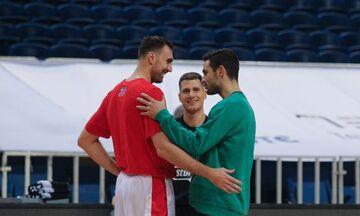 Παναθηναϊκός-ΤΣΣΚΑ: Η αγκαλιά των Παπαπέτρου και Μιλουτίνοφ - Τα γέλια με Στρέλνιεκς (pic)