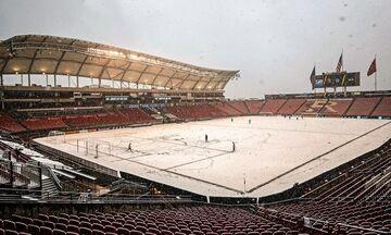 Χιόνι σε αγώνα του MLS (vid, pics)
