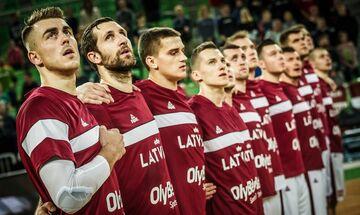 Με επτά απόντες η Λετονία κόντρα στην Εθνική μπάσκετ