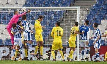 La Liga: Πρώτη παρά την ισοπαλία, από την άσπρη βούλα, με τη Βιγιαρεάλ η Ρεάλ Σοσιεδάδ (Highlights)