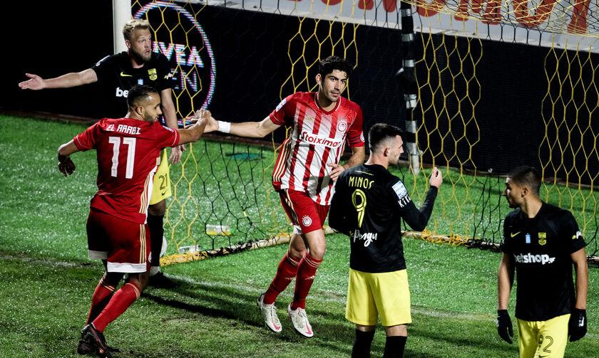 Άρης - Ολυμπιακός: Το δεύτερο γκολ του Μπουχαλάκη για το 0-2 (vid)