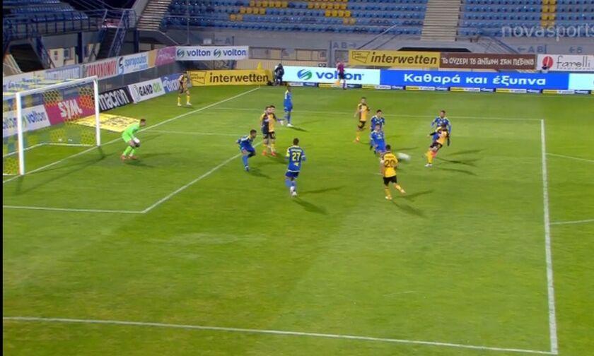 Αστέρας Τρίπολης - ΑΕΚ: Έκανε το 2-1 με τον Ανσαριφάρντ (vid)