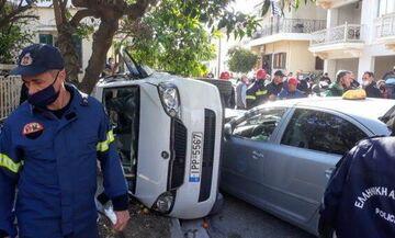 Σοβαρό τροχαίο ατύχημα για τον Γκριν του Μεσολογγίου (pics)