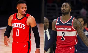 NBA: Στους Ουίζαρντς ο Ουέστμπρουκ, στους Ρόκετς ο Ουόλ!