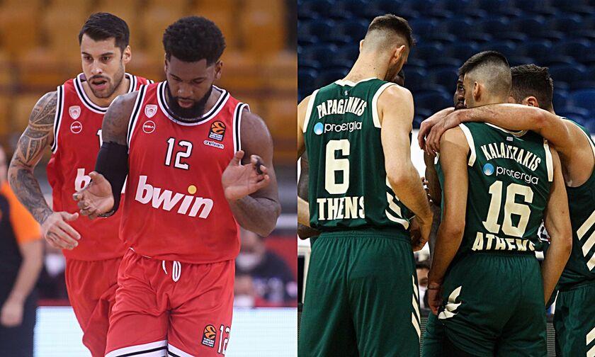 EuroLeague: Στη Μόσχα ο Ολυμπιακός, στο Μιλάνο ο Παναθηναϊκός