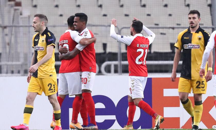 ΑΕΚ - Μπράγκα: Τα τέσσερα γκολ των Πορτογάλων (vid)