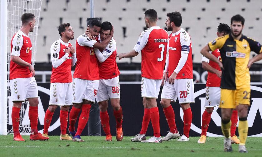 ΑΕΚ - Μπράγκα: Το γκολ του Όρτα για το 1-3 (vid)
