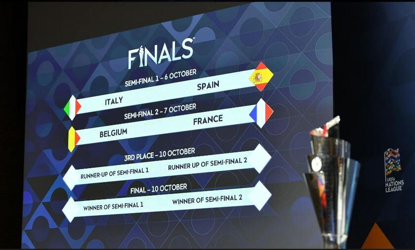 Nations League Finals: Τα ζευγάρια των ημιτελικών!
