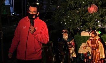 Ο αρχηγός του Πανερυθραϊκού φωταγώγησε το Χριστουγεννιάτικο Δέντρο της Νέας Ερυθραίας! (vid)