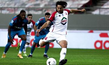 Ολυμπιακός - Βόλος: Το πέναλτι του Μπαριέντος για το 0-1 και το δοκάρι του Δουβίκα (vid)