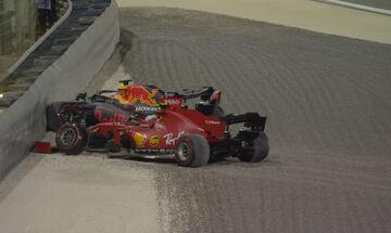 Grand Prix Σακχίρ: Έμειναν εκτός μετά από σύγκρουση ο Λεκλέρκ και ο Φερστάπεν (pic)