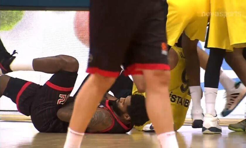 Φενέρμπαχτσε-Ολυμπιακός: Τραυματίστηκε ο Έλις (vid)