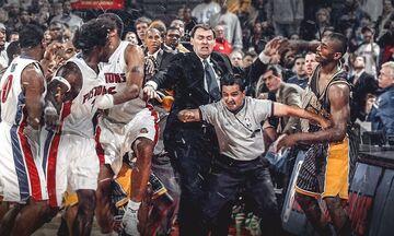 """Όταν το """"Malice in the Palace"""" άναψε «φωτιές» στο NBA"""