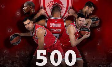 Μπαρτζώκας, Σπανούλης, Πρίντεζης για τους 500 αγώνες στην Euroleague (vid)
