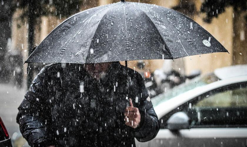 Καιρός: Ισχυρές βροχές, καταιγίδες και πυκνές χιονοπτώσεις