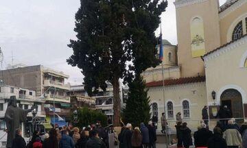 Θεοφάνια: Κοσμοσυρροή στη Μητρόπολη Καλαμαριάς στη Θεσσαλονίκη