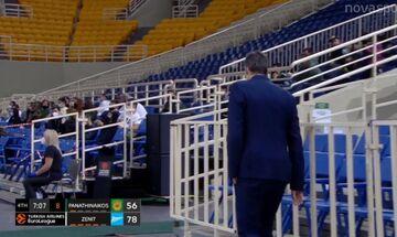 Παναθηναϊκός - Ζενίτ: Δεν άντεξε ο Διαμαντίδης - Αποχώρησε στο -22 από το ΟΑΚΑ (vid)