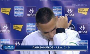 Παναθηναϊκός-ΑΕΛ 2-0: Ξέσπασε σε κλάματα ο Εμμανουηλίδης (vid)