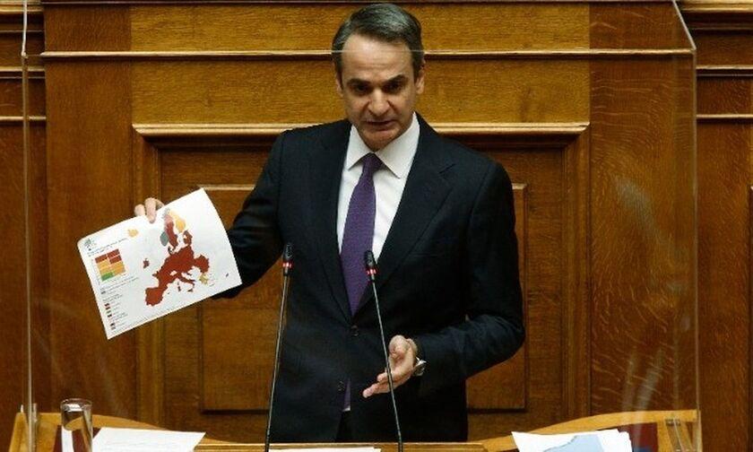 Μητσοτάκης: «Από τα 300 στα 500 ευρώ το πρόστιμο, έτοιμοι για επαναλειτουργία της αγοράς»