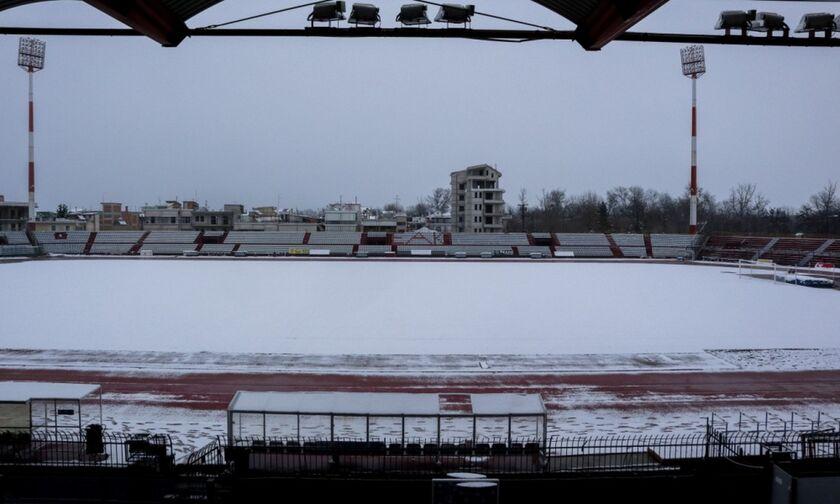 Super League: Χιόνι σε «Θ. Κολοκοτρώνης» και Αλκαζάρ (pics) - Πρόγνωση καιρού σε Τρίπολη και Λάρισα