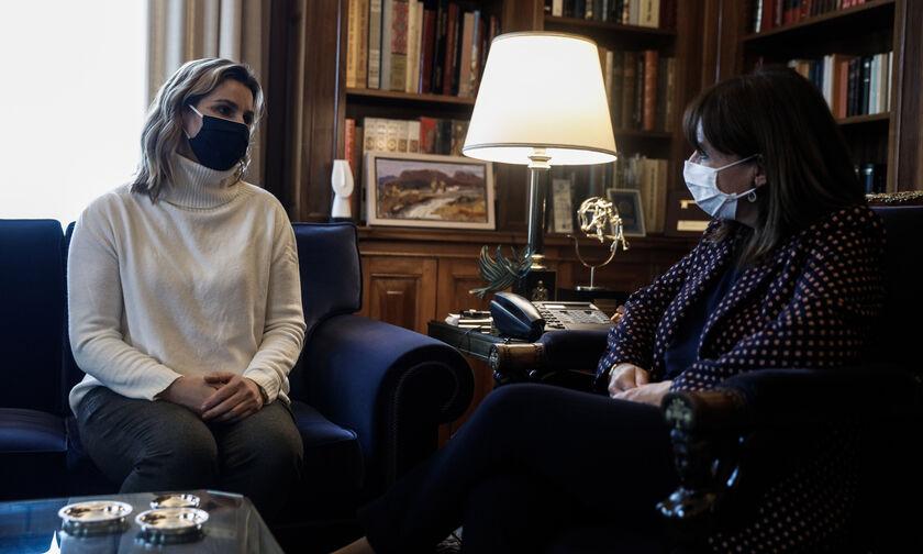 Η συνάντηση της Σοφίας Μπεκατώρου με την Πρόεδρο της Δημοκρατίας (pics)