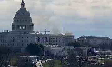 Kαπνός κοντά στο Καπιτώλιο: Lockdown στο κτίριο - Διακόπηκαν οι πρόβες ορκωμοσίας του Μπάιντεν (vid)