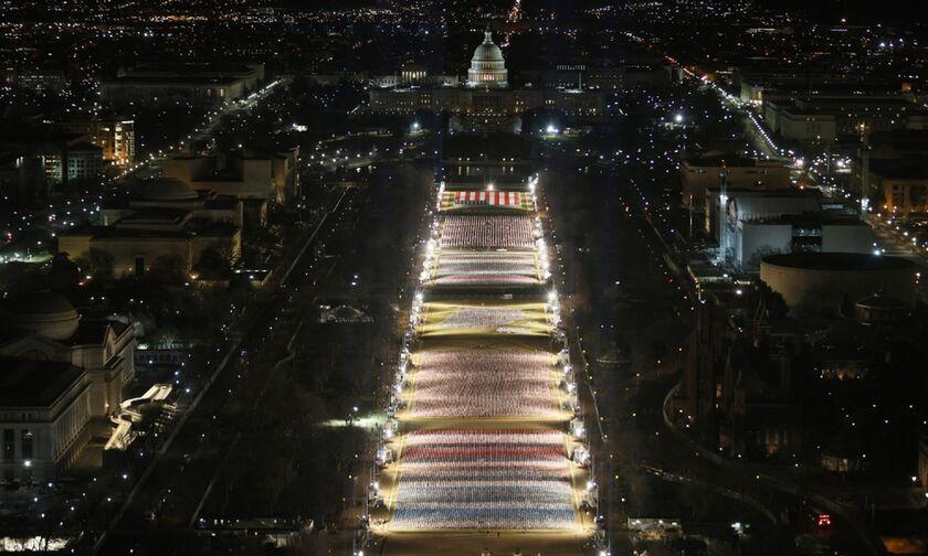 Έτσι ορκίζεται ο Μπάιντεν: 25.000 στρατιώτες, 200.000 σημαίες, δημοσιογράφοι με αλεξίσφαιρα