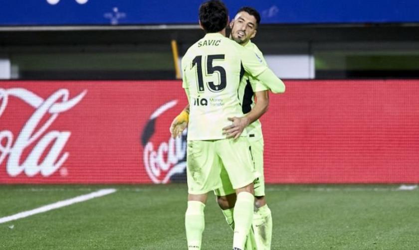 La Liga: Εφτάψυχη η Ατλέτικο 2-1 την Εϊμπάρ με Σουάρες (Highlights)