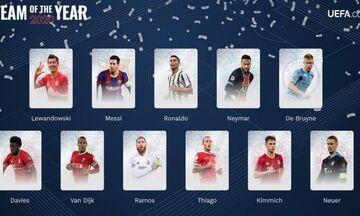 UEFA: Η κορυφαία ενδεκάδα για το 2020 (pics)