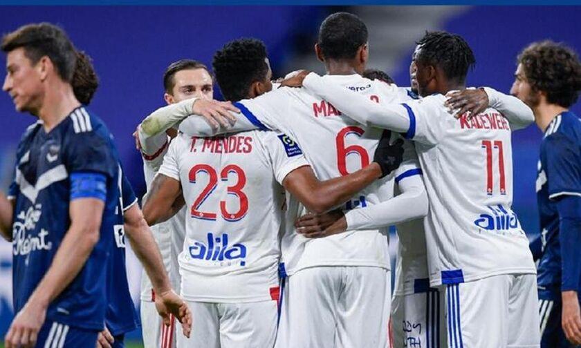 Ligue 1: Με γκολ στις καθυστερήσεις, κόντρα στην Μπορντό, «ρετιρέ» η Λιόν (Ηighlights)!