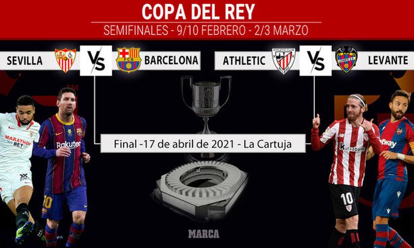 Copa del Rey: Σεβίλλη - Μπαρτσελόνα στα ημιτελικά!