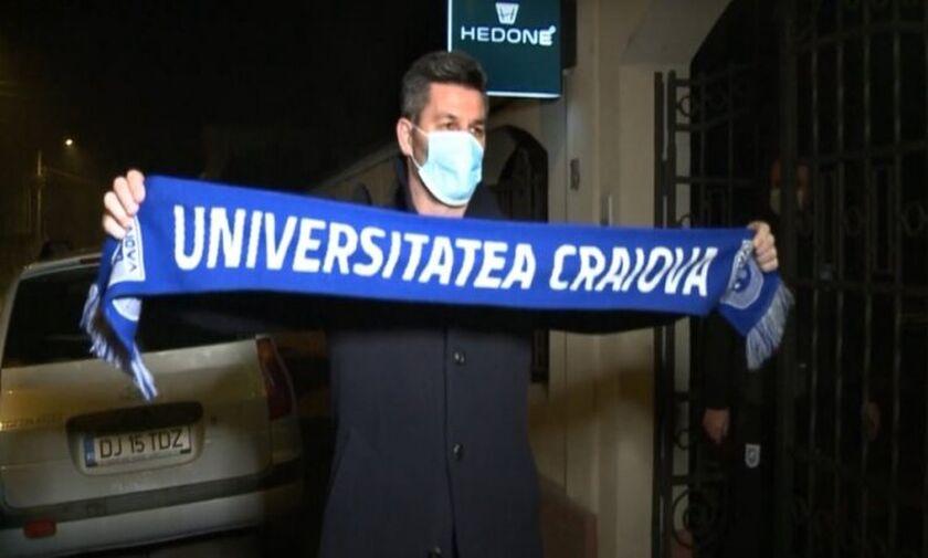 Ο Ουζουνίδης βρίσκεται στη Ρουμανία, με το κασκόλ της Κραϊόβα (vid)