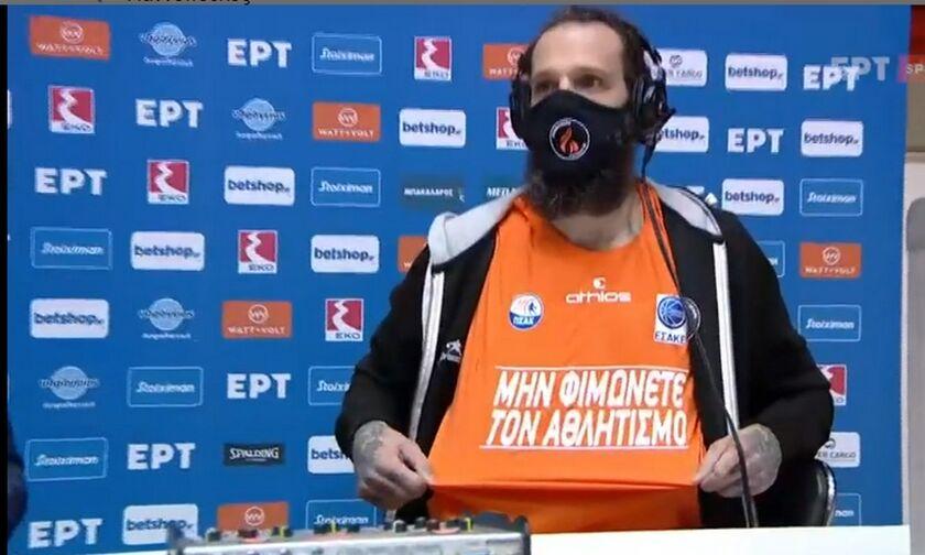 Προμηθέας-Μήνυμα Γιαννόπουλου: «Μη φιμώνετε τον αθλητισμό» (vid)