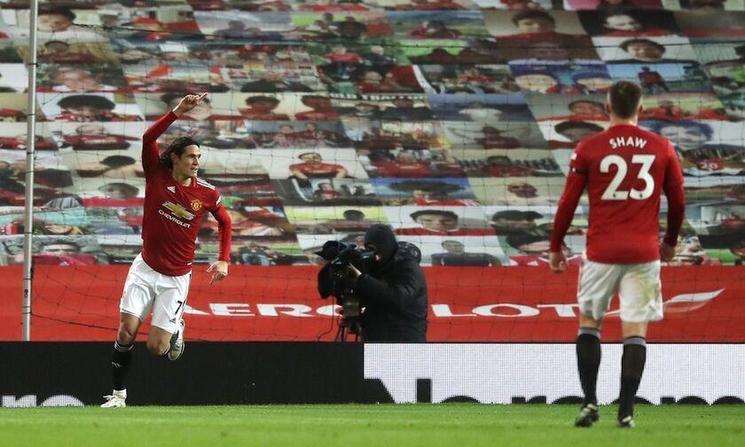 Mάντσεστερ Γιουνάιτεντ - Έβερτον 2-0: «Αέρα» δύο γκολ με Καβάνι και Μπρούνο Φερνάντες (vid)