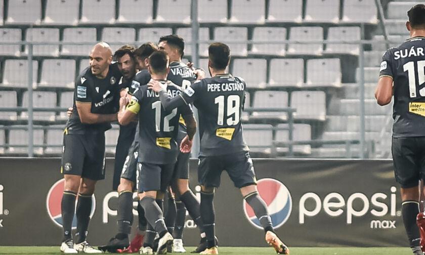 Βόλος - Αστέρας Τρίπολης 0-1: Δεν χάνει την εξάδα και τα πλέι οφ