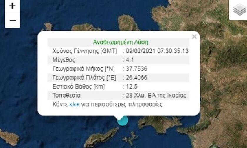 Σεισμός ανοιχτά της Ικαρίας