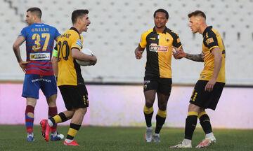 ΑΕΚ - Βόλος: Τα γκολ των Μάνταλου και Τάνκοβιτς για το 3-1 (vid)
