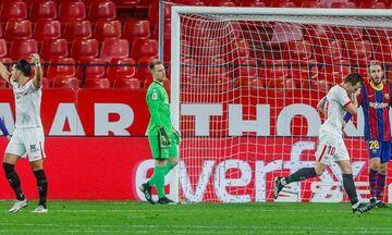 Copa Del Rey: Με το ένα πόδι στον τελικό η Σεβίλλη, 2-0 την Μπαρτσελόνα (Ηighlights)