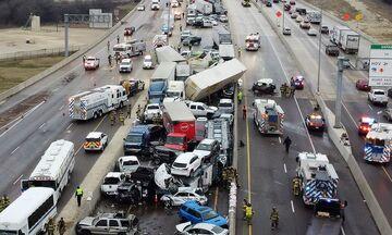 Τέξας: Πέντε νεκροί και δεκάδες τραυματίες σε απίστευτη καραμπόλα 100 οχημάτων! (vids)