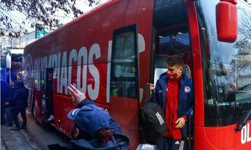 Παναθηναϊκός-Ολυμπιακός: Οι αφίξεις των δύο ομάδων στη Λεωφόρο (pics-vids)