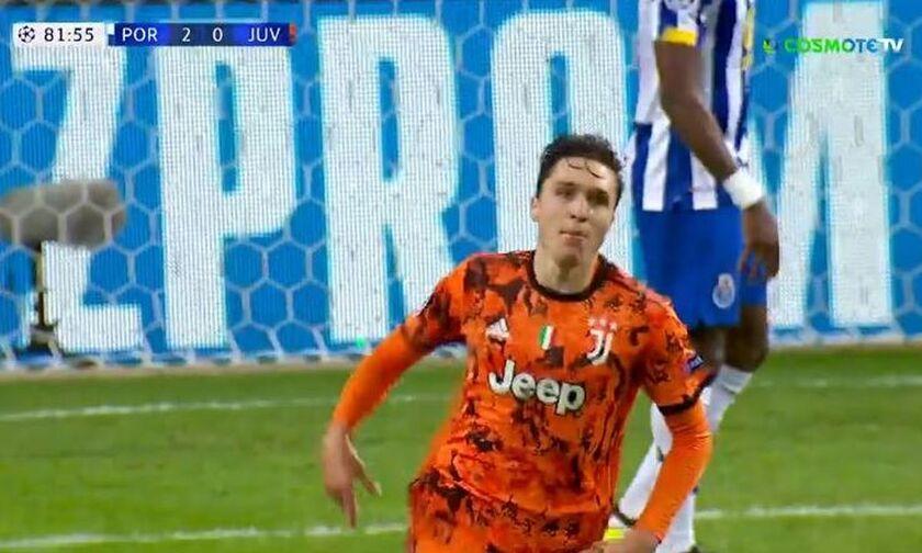 Πόρτο-Γιουβέντους: Το γκολ του Κιέζα (vid)