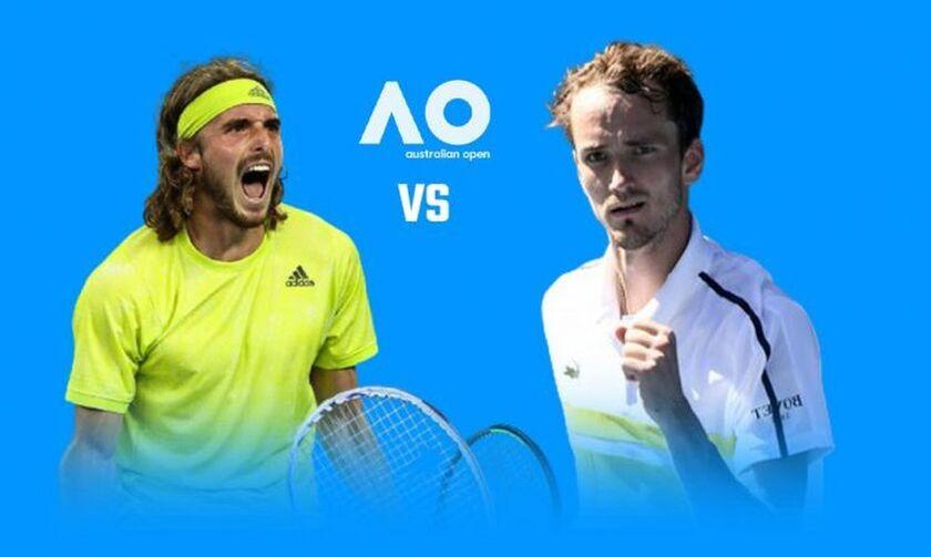 Australian Open: Εκτός τελικού ο Τσιτσιπάς, έχασε 0-3 από τον Μεντβέντεφ