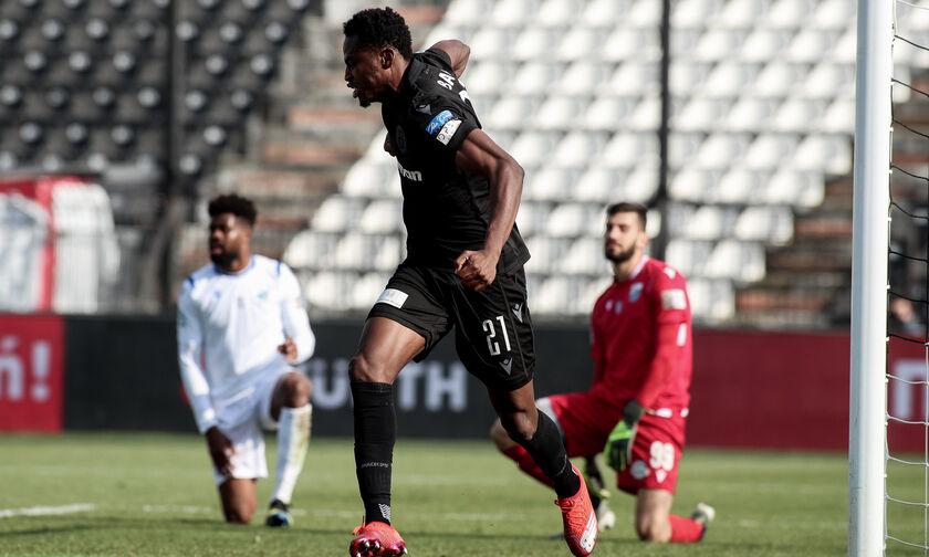 ΠΑΟΚ - Λαμία: Το γκολ του Μπάμπα για το 1-0 (vid)