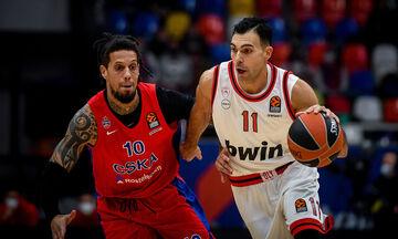 EuroLeague: Ολυμπιακός - ΤΣΣΚΑ και άλλα τέσσερα ματς