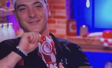 Παίκτης του Master Chef έδειξε τη φανέλα του Ολυμπιακού (vid)