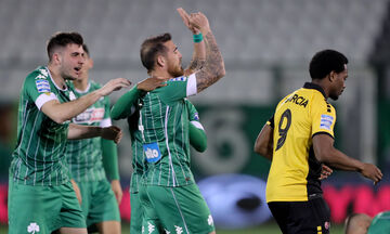 Παναθηναϊκός - ΑΕΚ: Το γκολ του Βέλεθ για το 1-0 (vid)