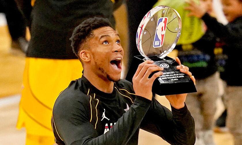 Team LeBron - Team Durant 170-150: MVP και στο All Star Game o Αντετοκούνμπο! (vids)