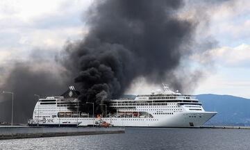 Φωτιά σε κρουαζιερόπλοιο στην Κέρκυρα (vid)